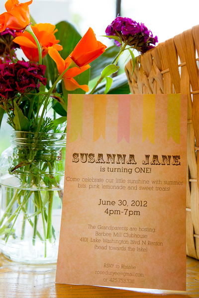 Susanna Jane's 1st birthday party, 6-30-12